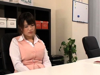 Fantastic oriental female heads for a fat ramrod in the office