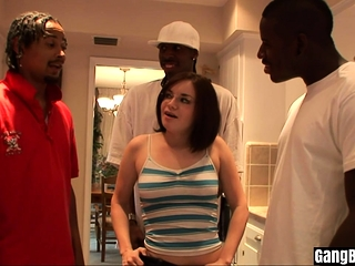 Group of black guys fucked a nasty MILFs big asshole