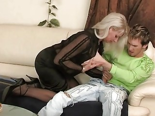 Lustful mom Elena seduces and fucks her daughter's boyfriend