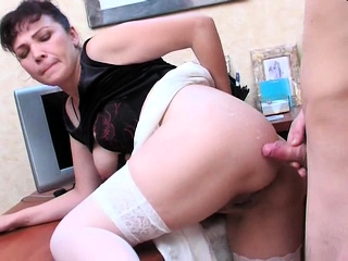 Russian unexperienced mature mother pulverized
