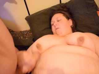Plus-size emma and paul jack together suck off jism on funbags drenching raw muff