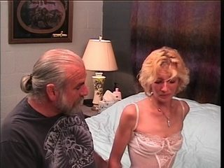 Slinky golden-haired mother i'd like to fuck receives a hard flogging from old man