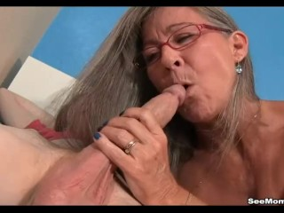 Cougar Empties Step-sons nuts blowing His good-sized wood