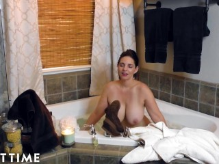 ADULT TIME Busty Milf Masturbates For You