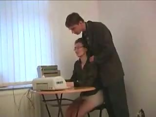 Secretary Milf Mom And Young Boss In Office