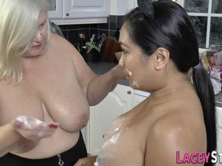 Lezzy grannie and lush chinese heterosexual woman