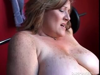 Alluring chunky dilettante mother I'd like to fuck has some biggest milk sacks and a chubby
