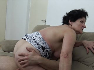 Grannie tempted by ultra-kinky youthful man!