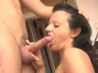 Stepmom and Son In The Kitchen