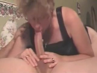 Glasses cougar gargle internal ejaculation