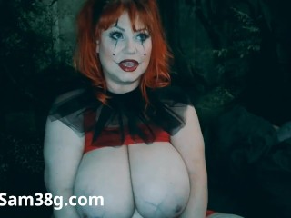 Sam38g in Clown outfit & makeup
