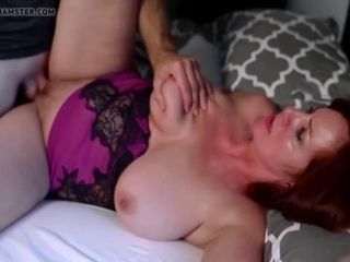 Curvaceous mommy with ample baps banged by her junior paramour