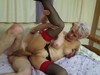 Insane mature lady gulps firm pink cigar and gets pounded insanely