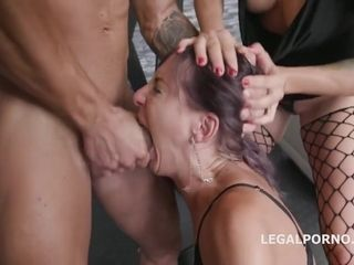 Brittany Bardot and Vicky Sol are having a blast during a wild group sex with horny guys