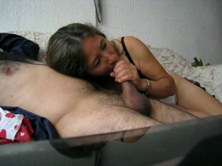 Horny amateur mature whore having fun with her husband