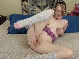 Fuzzy socks masturbating