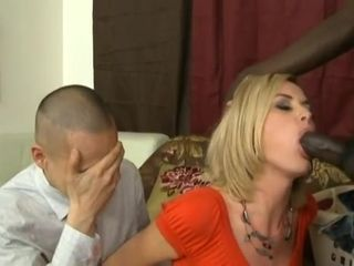 Blond Hair Lady Wife Nailed By Big Black Cock - cuckold porn