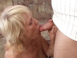 Grandson Seduces old Granny with Saggy Tits for Taboo Fuck