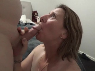 Cum play - Unload in my mouth, I want to rub your cum all over my boobs
