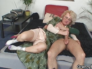 60 years old woman spreads legs for him