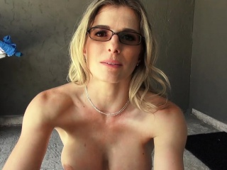 Ravaging my big-titted ash-blonde cougar step-mom in the backyard