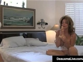 Mischievous wifey Deauxma watches husband arse plumb Sally D&rsquo_Angelo!