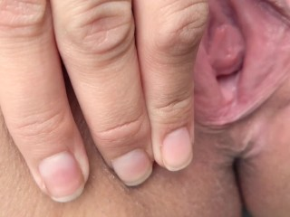 FINGERING PUSSY early this morning after running errands.