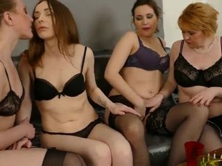 4 lezzies - red-hot cougar gang bang-out