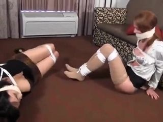 Mad Man Bounded Brunette Mature And Her Daughter