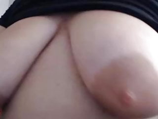 Humungous mature saggy bumpers with humungous areolas