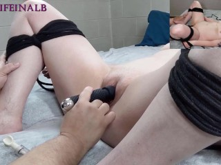 Hotwife Milf in Glasses Tied Up Clit Pumped and Made to Squirt Part 1