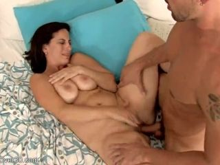 Unleash muddy popshot for yam-sized boobed mother with unshaved cooch