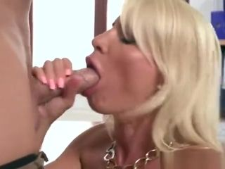 Enormous hooters cougar fellate with jizm in throat
