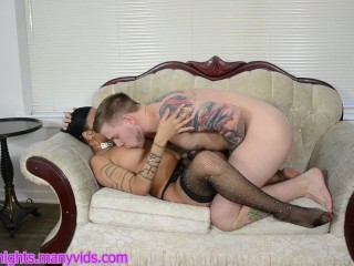 Mommy Gets torn up rock hard Missionary on bed