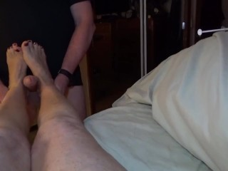 Mature Joi And Foot Worship With Cum Shot