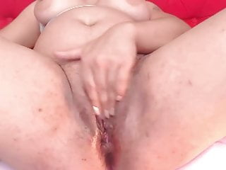 Mature Latina caressing Her puss