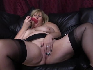 Mature Big Tit Dildo Queen Invades her Wet Pussy again.