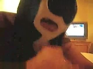 Pretty brazilian black-haired wifey With A grappling Mask deepthroat lollipop Then A ravaging activity