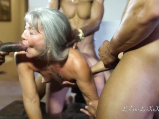 Cougar Leilani Lei very first group penetrate