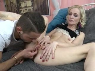 Milky haired slim mummy gets a excellent penetrate from a youthful fellow with ample man meat