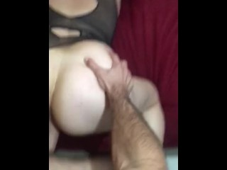 SUPER SLOPPY BJ AND PUSSY POUNDING W HUGE COCK