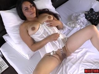 Mexican housewife jacks with fucktoys