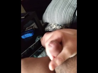 Homemade jerk off couldnt wait for wifey to come home