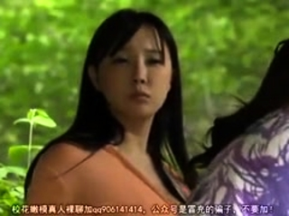Steamy outdoor dt and hand job with big-chested japanese