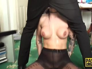 Horny Brunette Babe Fucked By A Horny Stud