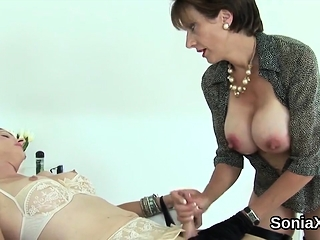 Adulterous british milf lady sonia shows her oversized boobi