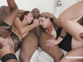 Janice and Valentina Sierra are having group sex with black guys and enjoying it a lot