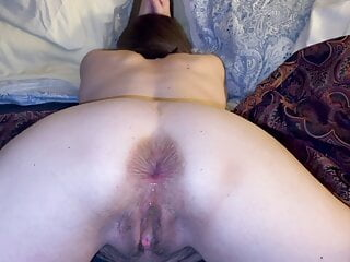 Granny pussy and anal creampies and some farting.