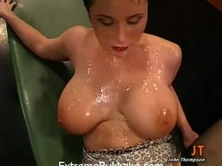 Busty short haired MILF Danielle - gangbang and bukkake