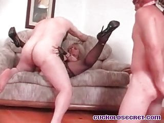 Cuckolds wifey plowed by XXL chisel buddies Sissy abased